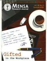 MENSA Research Journal - 2008